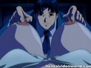 Sexy anime managee gefickt bei der Arbeit